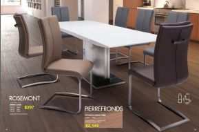 ROSEMONT DINING CHAIR & PIERREFRONDS EXTENSION DINING TABLE by Zuo