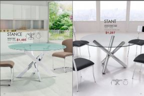STANCE & STANT ROUND DINING TABLES by Zuo