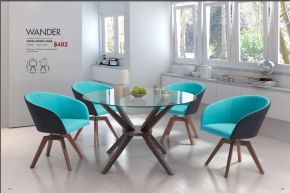 WANDER SWIVEL DINING CHAIRS by Zuo