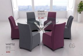 WHITTLE DINING CHAIRS & STANT ROUND DINING TABLE by Zuo