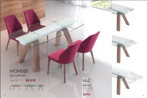 WONDER DINING EXTENSION TABLE & VAZ DINING CHAIRS by Zuo