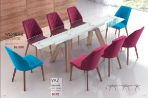 WONDER EXTENSION DINING TABLE & VAZ DINING CHAIR by Zuo