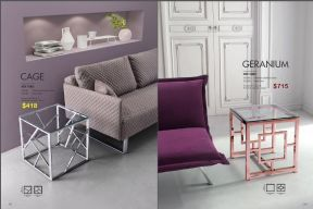 CAGE & GERANIUM SIDE TABLES by Zuo