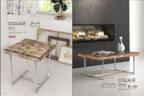 COLLAGE SIDE & COFFEE TABLE by Zuo
