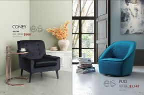 CONEY ARM & PUG SWIVEL CHAIRS by Zuo