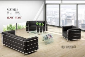 FORTRESS ARM CHAIR & SOFA by Zuo