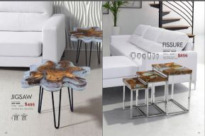 JIGSAW SIDE & FISSURE NESTING TABLES by Zuo