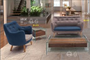 LIEGE CHAIR & SETEE by Zuo