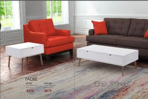 PADRE SIDE & COFFEE TABLE by Zuo
