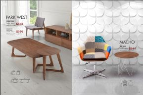 PARK WEST COFFEE TABLE & MACHO SIDE TABLES by Zuo