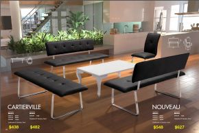 CARTIERVILLE & NOUVEAU BENCHES by Zuo