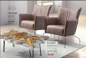 OSTEND OCCASIONAL CHAIRS & JIGSAW RECT COFFEE TABLE by Zuo