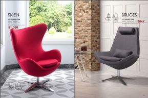 SKIEN & BRUGES OCCASIONAL CHAIRS by Zuo