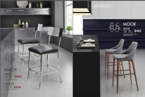 BAR & MOOR BAR & COUNTER CHAIRS by Zuo