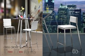 CRISS CROSS & DOLEMITE BAR & COUNTER CHAIRS by Zuo