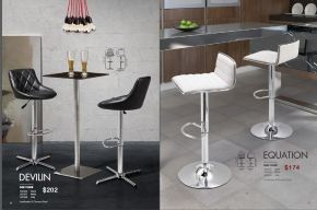 DEVILIN & EQUATION BAR CHAIRS by Zuo