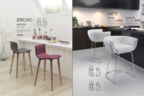 JERICHO & LATTE BAR & COUNTER CHAIRS by Zuo