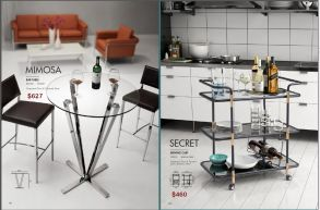MIMOSA BAR TABLE & SECRET SERVING CART by Zuo