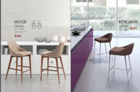 MOOR & REYKJAVIK BAR & COUNTER CHAIRS by Zuo