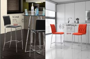 SOAR BAR & UPPSALA COUNTER CHAIRS by Zuo
