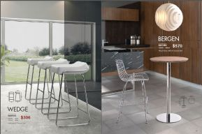 WEDGE BARSTOOL & BERGEN BAR TABLE by Zuo
