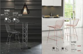 WIRE BAR & COUNTER CHAIRS by Zuo