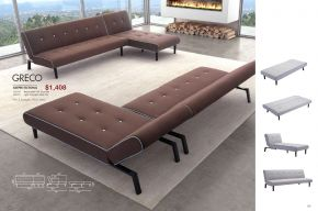 GRECO SLEEPER SECTIONAL by Zuo
