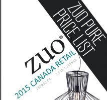 2015 ZUO PURE SUGGESTED RETAIL