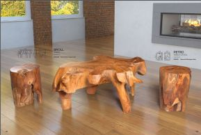 BROLL & PETRO TABLE & STOOLS by ZUO Pure