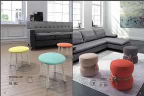 EDGEWATER STOOL & TUBBY OTTOMAN by ZUO Pure
