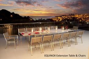 EQUINOX Extension Table & Chairs By Barlow Tyrie 2016