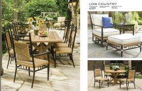 LOW COUNTRY Dining l ArmChair & Ottoman by Lloyd Flanders 2017
