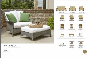 MANDALAY Lounge ArmChair & Ottoman l Collection by Lloyd Flanders 2017