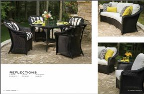 REFLECTIONS Dining l Lounge Chair & Crescent Sofa by Lloyd Flanders 2017