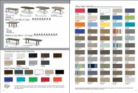 TABLES (Seats 6-8) FRAME Finishes l SLING Fabric choices by Telescope 2017