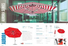 AURORA Premium Cantilever Series by Frankford Umbrellas 2017