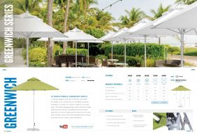 GREENWICH Commercial Aluminum Market Series by Frankford Umbrellas 2017