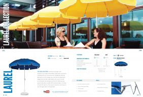 LAUREL Steel Patio Collection by Frankford Umbrellas 2017