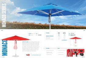 MONACO Premium Center Post Series by Frankford Umbrellas 2017
