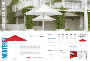 MONTEREY Fiberglass Market (Pulley) by Frankford Umbrellas 2017
