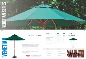 VENETIAN Wood Market Series by Frankford Umbrellas 2017