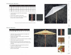 UMBRELLAS (Aluminum & Wood Market) by Woodard 2017