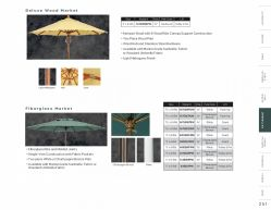 UMBRELLAS (Deluxe Wood & Fiberglass Market) by Woodard 2017