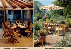 FELSTED Armchairs & MONACO Folding Chairs by BarlowTyrie