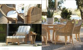 EDGEWOOD l Teak Chaises & Dining by Lane Venture 2017