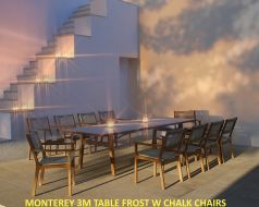 MONTEREY 3M TABLE FROST W CHALK CHAIRS