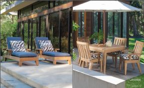 SARANAC l TEAK (4) Chaises & Dining by Lane Venture 2017