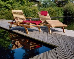 CAPRI Ultra Sun Lounger with Pull-out Tray by Barlow Tyrie