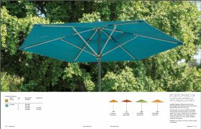 PORTOFINO lll (Aluminum) Umbrella with Fiberglass Arms by Tropitone 2016-18