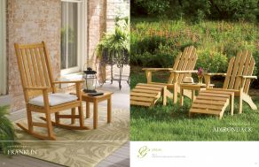 FRANKLIN Rocking & ADIRONDACK Chairs (Shorea) by Oxford Garden 2017
